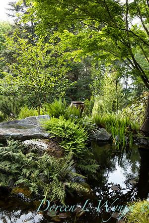 Pat & Walt's garden with stumpery_123