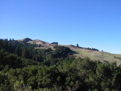 Twin peaks of Windy Hill OSP (Photo by Frank Crossman)