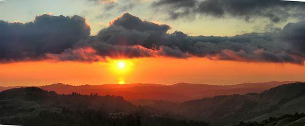 Russian Ridge sunset Feb 06