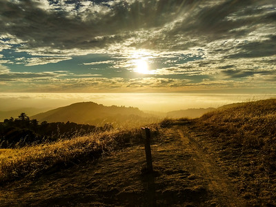 Early sunset at Russian Ridge