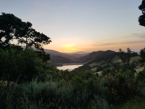 View from Sierra Azul -Guadalupe Reservoir in distance