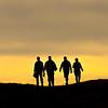 Hikers near Black Mountain summit