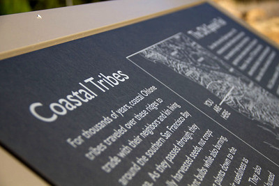 Interpretive signage celebrating the ancient Native American people who lived in and traveled through this area.