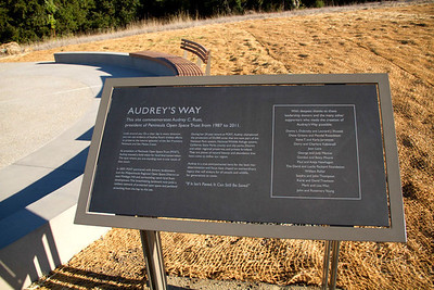 Interpretive signage commemorating Audrey C. Rust, to honor the conservation achievements of the former POST president.