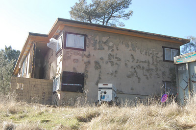 Interior Remediation underway at  Family Housing building