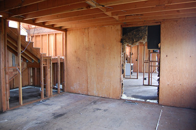 Interior of Family Housing building after remediation completed