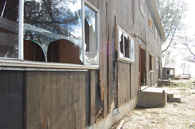Family Housing building – condition while exterior remediation underway