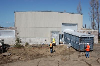 Generator building during interior remediation