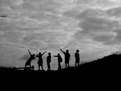 A Group of Friends at the Top of Vista Point