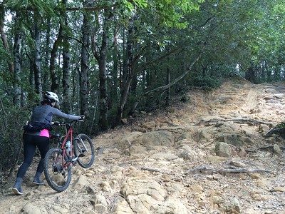 Walk-a-bike section of Manzanita