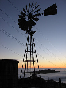 Honorable Mention: Windmill Near the Deck at Russian Ridge by Carol Mattsson - Russian Ridge OSP (Bay Area Ridge Trail)
