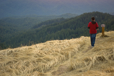 Debbi Brusco - Checking out the view, 10/17/09  - Long Ridge OSP