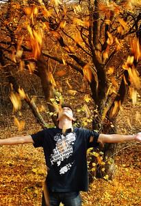 Jethro Dimeo - Boy and the leaves  - Purisima Creek Redwoods OSP