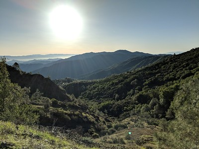 Sunrise over Mount Umunhum