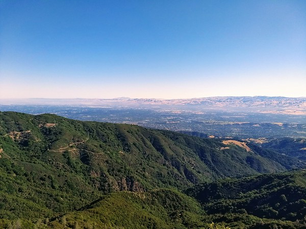 The view from the summit of Mt. Umunhum, revealing the urban life nestled between the rugged and exquisite landscape of California.