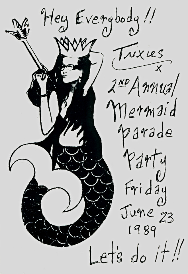 Trixie's 2nd Annual Mermaid Parade Party, NYC, 1989 - Invite