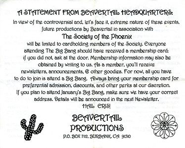 A Statement From Beavertail Headquarters, Los Angeles, 1992