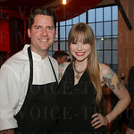 Featured Chef Bobby Benjamin of the upcoming Butchertown Grocery with his wife Hanna Benjamin.