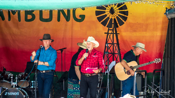 NAMBUNG, WESTERN AUSTRALIA, AUSTRALIA - OCT 25 2019: A variety of Country Music singers and poets gathered to perform in front of a large audience at the Annual Country Music Muster at Nambung Station.