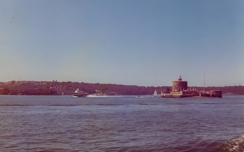 Sydney Harbour and the Opera House- August 1973