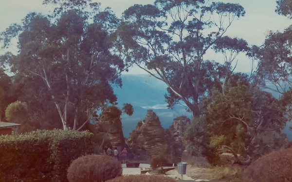 The Three Sisters in the Blue Mountains, NSW - Aug 1973