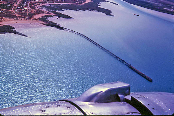 The Old Broome Jetty from the Air in 1963