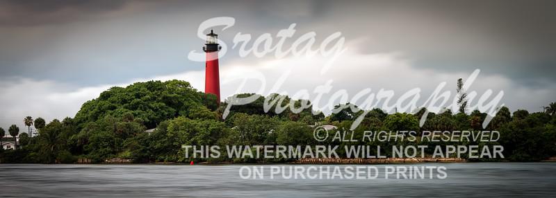 "$50.00 - Jupiter Inlet Lighthouse Print - 10"" x 28"""