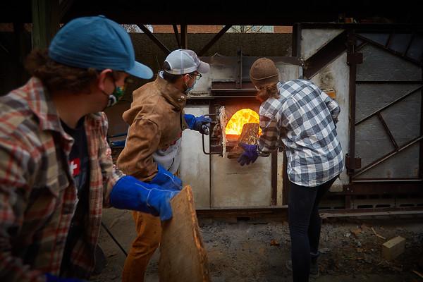 2020 UWL Art Ceramics Woodfired Kiln 0167