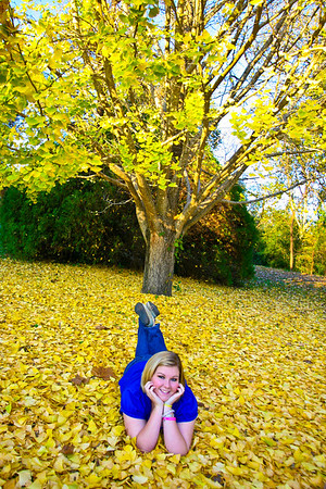 Another senior shot! Found this tree driving into our park. Went back and took advantage of the falling leaves!