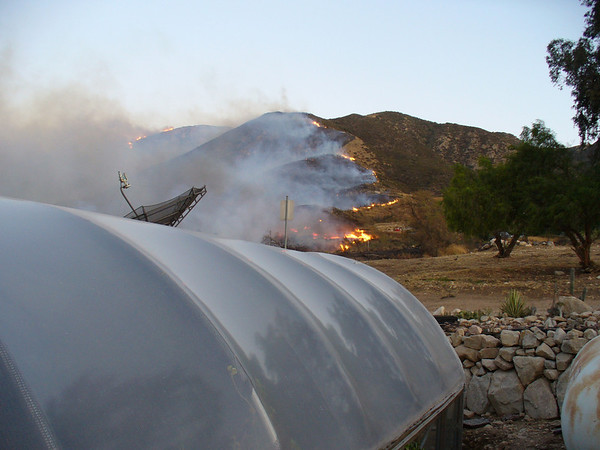 10/12 - afternoon - The fire burned from east to west to the north of us.