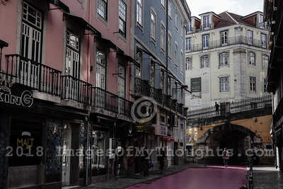 A street scene in Lisbon.