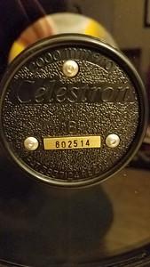 "Celestron 8"" serial # 802514"