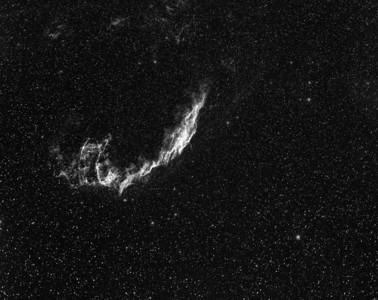 NGC6992 Eastern Veil Nebula - 1hr10min Ha filter. 14x5min.