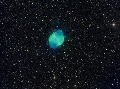 M-027 - 11-23-18 - The Dumbbell Nebula - Hubble Palette - 10x3min ea. Ha, SII, OIII