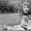 Ayoe med mælkebøtter i Farum 1991