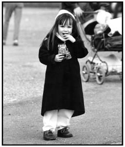 Ayoe med sin franske frakke 1992