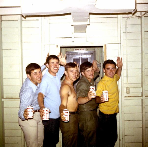 jeff and army buddies