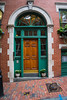 Great door to a town home in a historic residential area of Boston