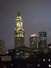 Boston skyline at night.