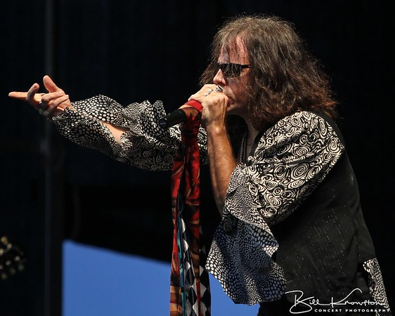 The Aerosmith tribute band Draw The Line performs at Imperial Cars on August 17, 2012 in Mendon, MA
