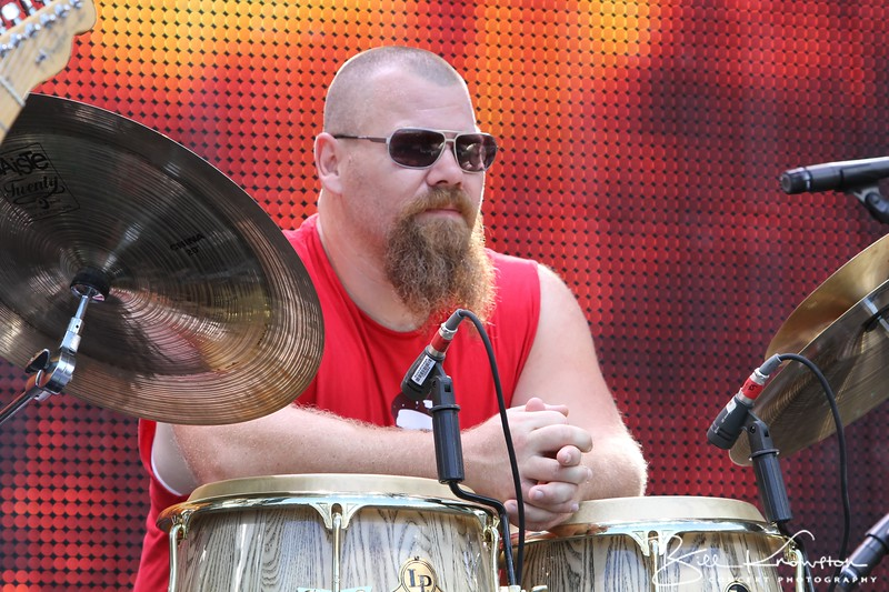 Jamey Johnson's bongo player at the Farm Aid 26th Anniversary Concert at Livestrong Sporting Park on August 13, 2011 in Kansas City, Kansas