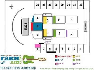 Farm Aid Seat Chart