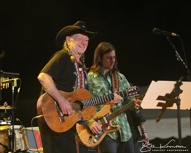 Willie and Lukas Nelson at the Farm Aid 26th Anniversary Concert at Livestrong Sporting Park on August 13, 2011 in Kansas City, Kansas