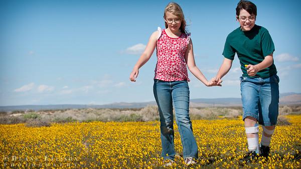 Children in wildflowers
