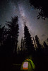 The Milky Way over our Crater Lake campsite