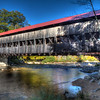 Albany covered bridge along the Kancamagus Highway in Albany, NH on October 5, 2014.