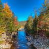 A view from the bridge at Rocky Gorge at the Kancamagus Highway on October 5, 2014.