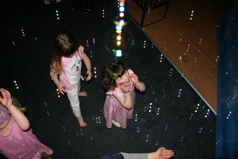 and there were lots and lots of bubbles!