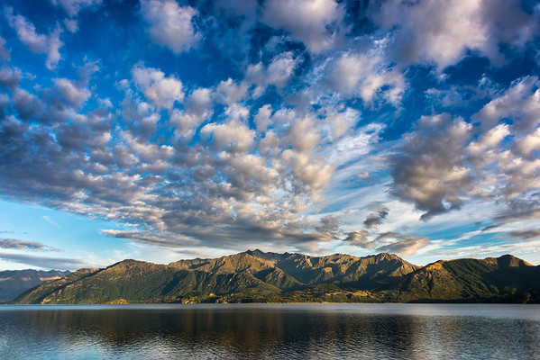 Cloud over Table Bay, Lake Wakatipu; Mt Crichton across the lake at centre image