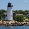Annisquam Lighthouse on the northern end of the Annisquam River, Ipswich Bay in Gloucester, MA on July 5, 2013